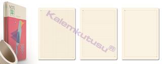 Note Eco Organic Notebook 3lü Paket 16.3x23.5cm Dikişli