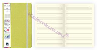 Arwey Baer Notebook Lastikli Sert Kapak Çizgili Kalemli 13.2x21cm Yeşil