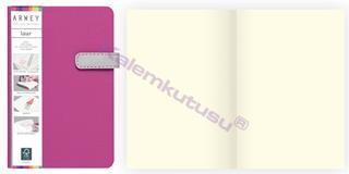 Arwey Laur Notebook Mıknatıslı Sert Kapak Çizgisiz 11.5x16.5cm Fuşya