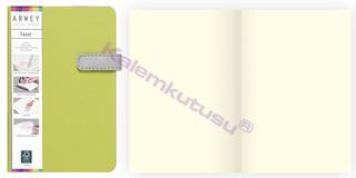 Arwey Laur Notebook Mıknatıslı Sert Kapak Çizgisiz 11.5x16.5cm Yeşil