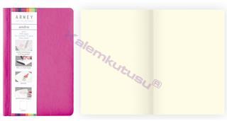 Arwey Andre Notebook Termo Deri Esnek Kapak Çizgisiz 11x16.5cm Fuşya