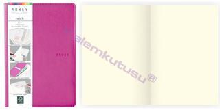 Arwey Reich Notebook Termo Deri Esnek Kapak Çizgisiz 12.5x17.5cm Fuşya