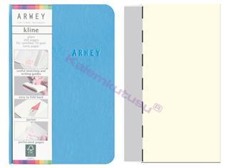 Arwey Kline ExtraSmall Notebook Esnek Kapak Çizgisiz 8x12cm Mavi