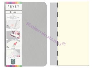 Arwey Kline ExtraSmall Notebook Esnek Kapak Çizgisiz 8x12cm Gri