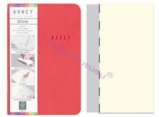 Arwey Kline ExtraSmall Notebook Esnek Kapak Çizgisiz 8x12cm Kırmızı