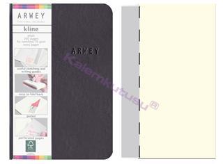 Arwey Kline ExtraSmall Notebook Esnek Kapak Çizgisiz 8x12cm Siyah