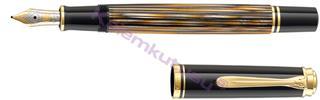 Pelikan Souverän M400 Damarlı Selülöz Kahverengi/Altın Dolma kalem<br><img src=resim/isyaz.gif border=0/>