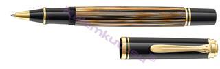 Pelikan Souverän M400 Damarlı Selülöz Kahverengi/Altın Roller kalem<br><img src=resim/isyaz.gif border=0/>