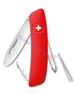 Swiza J02 Junior Red Uçları Yuvarlatılmış İsviçre Cep Çakısı 4 Fonksiyonlu