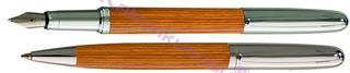 Oberthur Séquoia Mat Lake Kayın Ağacı/Çelik Dolma kalem + Tükenmez kalem<br><img src=resim/isyaz.gif border=0/>