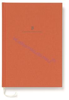 Graf von Faber-Castell Dikişli Keten Kapaklı Not Defteri A5 - Yanık Turuncu