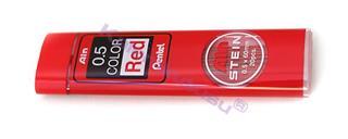Pentel Ain STEIN Seramik Alaşımlı 0.5x60mm-20 adet Mekanik Kurşun Kalem Ucu - Kırmızı