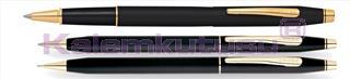 Cross Century Classic Mat Siyah/Altın Roller kalem + Tükenmez Kalem + Versatil Kalem<br><img src=resim/isyaz.gif border=0/>