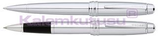 CROSS Bailey Parlak Lake Krom Roller kalem + Tükenmez kalem<br>