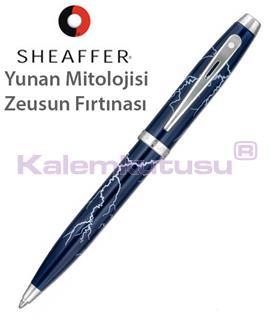 """Sheaffer100 """"Greek Mythology Zeuss Thunderstorm"""" Lake Lacivert Tükenmez Kalem"""