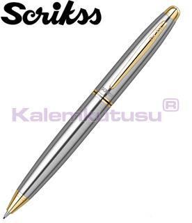 SCRIKSS 88 MAT KROM/ALTIN 0.7mm MEKANİK KURŞUN KALEM<br>