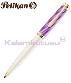 Pelikan K600 Violet/White Souveran Special Edition Tükenmez Kalem<br>