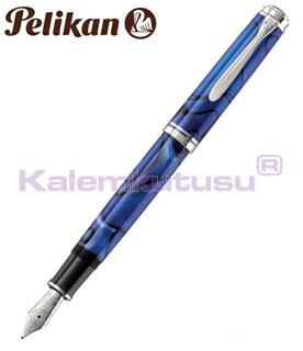 Pelikan Souverän® M805 Blue Dunes Dolma Kalem - 4 Farklı Yazı Uç Seçeneği<br>