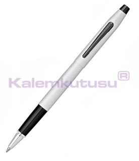 Cross Classic Century Brushed Chrome PVD Black Roller Kalem<br>
