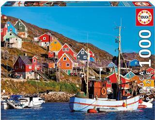 Educa Puzzle 1000 Parça Nordic Houses 17745