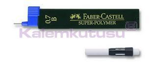 """FABER-CASTELL BASIC SERİSİ İÇİN 0.7mm """"B"""" KURŞUN UÇ VE SİLGİ YEDEĞİ"""
