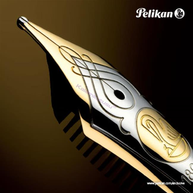 Pelikan M800 Souveran PARLAK LAKE SİYAH REÇİNE/ALTIN BÜYÜK BOY DOLMA KALEM