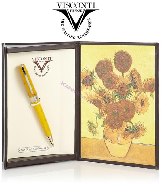 VISCONTI Van Gogh-Sunflowers Vegetal Resin Tükenmez kalem