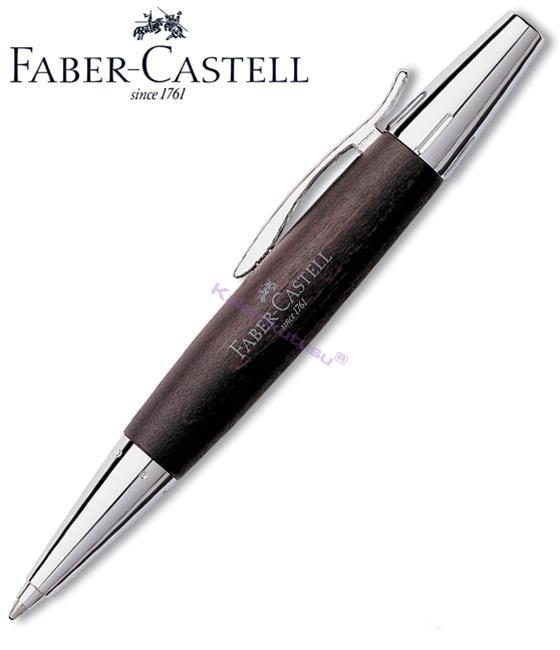 FABER-CASTELL E-MOTION ARMUT AĞACI/PARLAK KROM TÜKENMEZ KALEM - koyu kahverengi