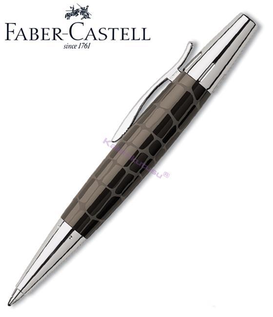 FABER-CASTELL E-MOTION KROKO/PARLAK KROM TÜKENMEZ KALEM - Kahverengi