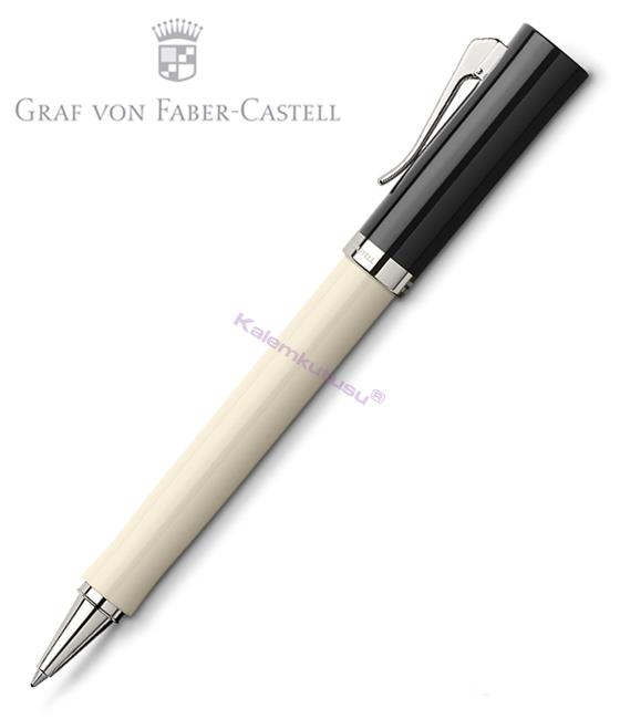 Graf von Faber-Castell Intuition Ivory Tek Parça Reçine/Platin El Yapımı Rollerkalem