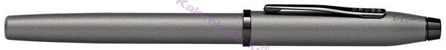 Cross Century II Silah Metali Gri/Siyah PVD Dolma Kalem + Tükenmez Kalem