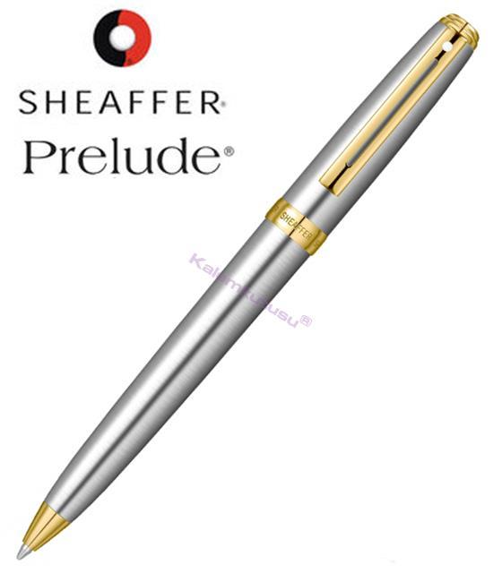 SHEAFFER Prelude Buz Krom/Altın Tükenmez kalem