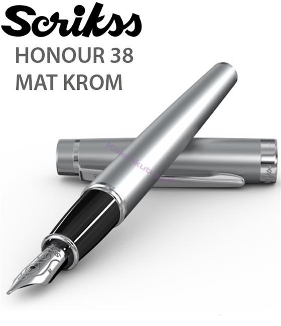 Scrikss Honour38 Mat Krom/Parlak Krom Aksam Dolma Kalem