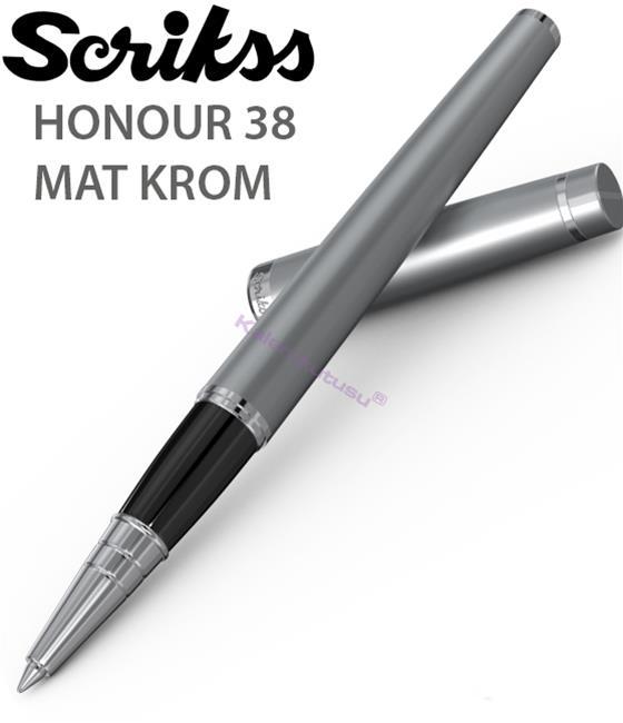 Scrikss Honour38 Mat Krom/Parlak Krom Aksam Roller Kalem