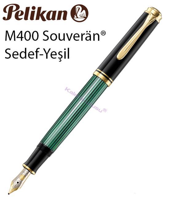 Pelikan M400 Souveran YEŞİL SEDEF-SİYAH/ALTIN DOLMA KALEM
