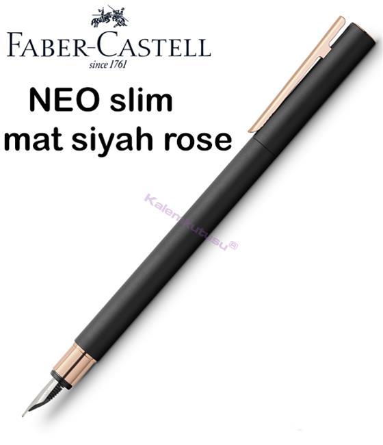 Faber-Castell Neo Slim Mat Siyah/Rose Gold Dolma Kalem