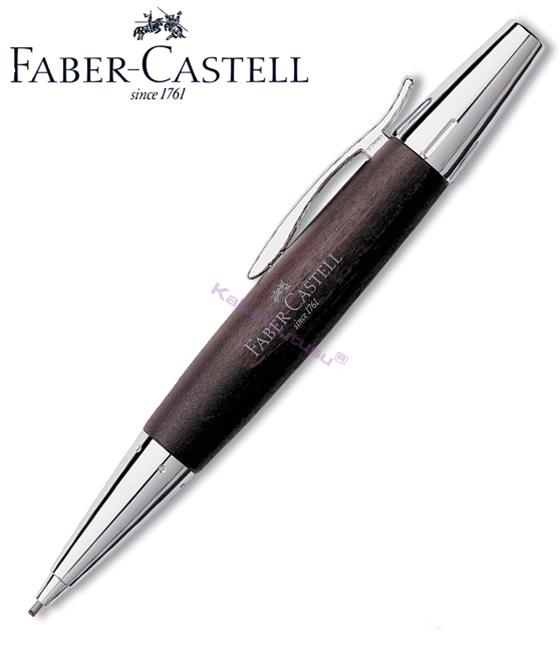 FABER-CASTELL E-MOTION ARMUT AĞACI/PARLAK KROM 1.4mm VERSATİL KALEM - koyu kahverengi