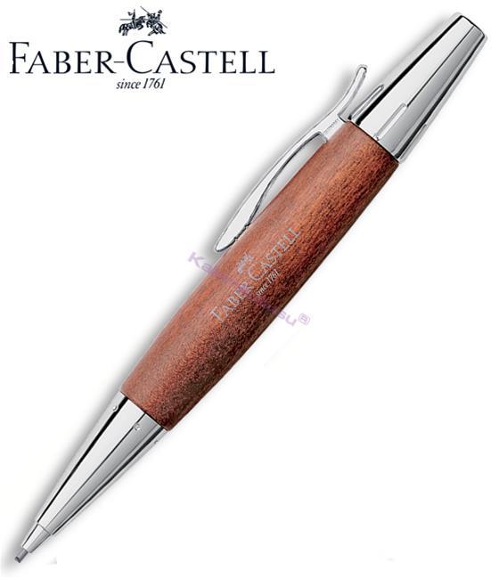 FABER-CASTELL E-MOTION ARMUT AĞACI/PARLAK KROM 1.4mm VERSATİL KALEM - açık kahverengi