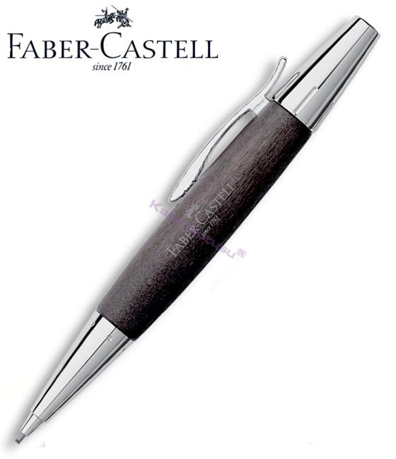 FABER-CASTELL E-MOTION ARMUT AĞACI/PARLAK KROM 1.4mm VERSATİL KALEM - siyah