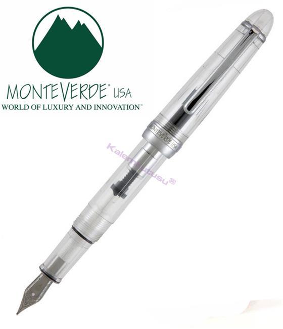 MONTEVERDE USA Monza Crystal Clear Şeffaf Dolma Kalem - Medium(Orta)