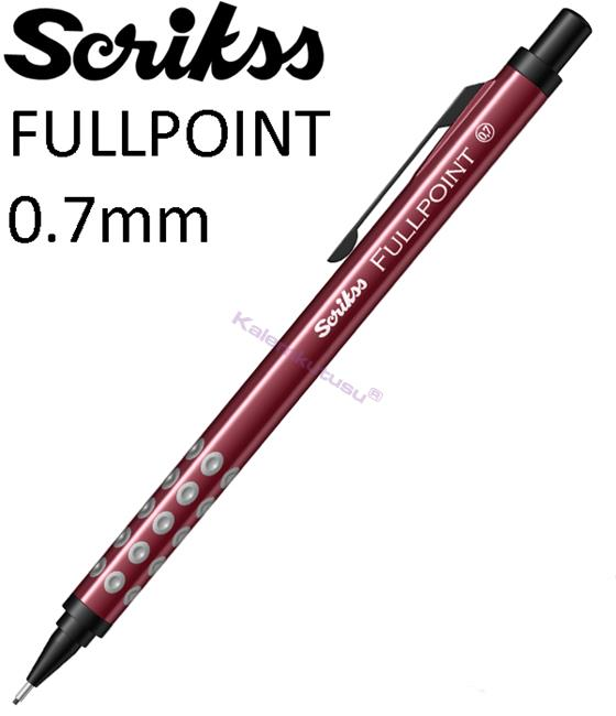 Scrikss Fullpoint Black Edition Versatil Kalem 0.7mm Bordo