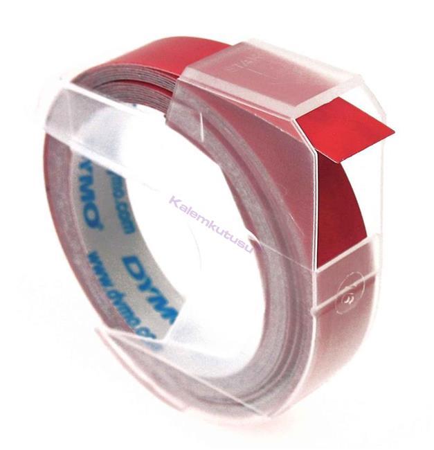 DYMO 3D Mekanik Makine için Plastik Kabartma 9mmx3mt. Şerit - 3 Farklı Renk Seçeneği