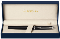 WATERMAN HEMISPHERE MOONLIGHT SATEN SİYAH/KROM ROLLER KALEM<br>