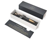 Parker IM Premium Matte Black/Gold Çapraz Gravürlü Roller Kalem