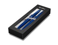 Scrikss Prestige 108 Tükenmez Kalem + 0.7mm M.Kurşun Kalem Takım - Metalik Mavi <br>